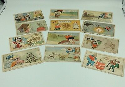 Lot 12 c1906 Comic Postcards/ Outcault-Buster Brown- American Journal Magic Cds