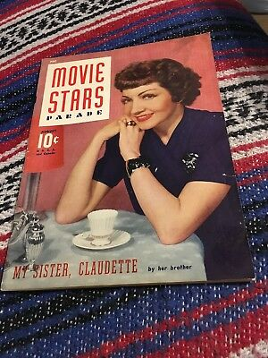 CLAUDETTE COLBERT MOVIE STARS PARADE mag AUGUST 1941 MICKEY ROONEY,FRED ASTAIRE