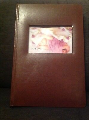 New 'Old Town' Brown Leather Bonded Photo Album 300 photos and memo space