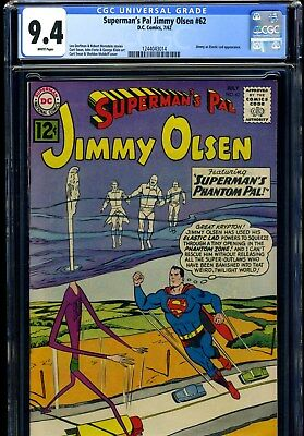 Superman's Pal Jimmy Olsen #62 7/62 Cgc 9.4 White Pages---Only One Higher!