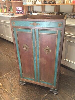 Antique Victor Gramophone Cabinet For Record Deck Vinyl Storage. Offers