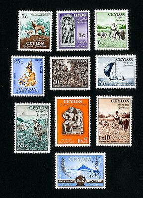 Ceylon Stamps # 319-28 XF OG LH Set of 10 Scott Value $85.70