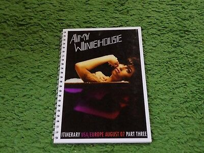 AMY WINEHOUSE. Tour itinerary 2007.