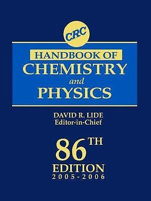 By David R. Lide - CRC Handbook of Chemistry and Physics: A Ready-Reference Book of Chemical and Phy