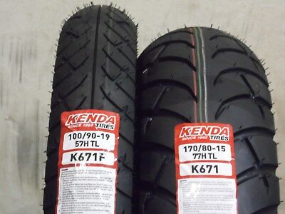 100/90-19 170/80-15 K-671 Touring Motorcycle Tires Complete Front & Rear Set