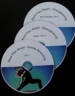 Back Pain Relief - set of 3 DVDs