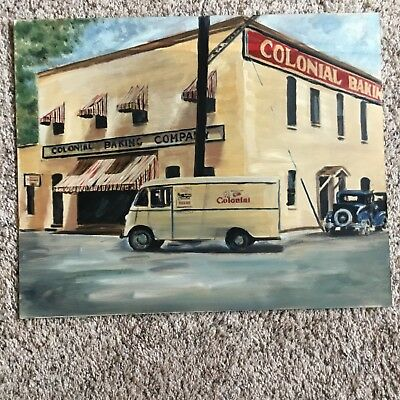 Colonial is Good Bread Oil Painting on Crescent Quality Canvas Board dated 1979