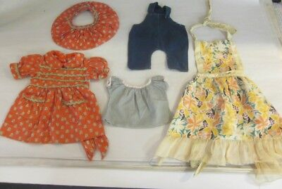 Vintage Antiques Mixed Lot Doll Clothes Hats 10 Pieces Lg Sizes