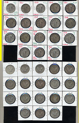 Lot Of 18  Standing Liberty Quarters- Very Popular- No Reserve