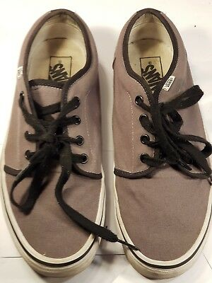 VANS Off the Wall Mens Sneakers Casual Lace Up Trainers Shoes Grey UK9 / EU43