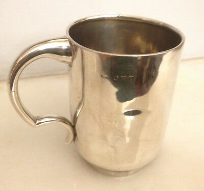 Antique Victorian Hms Illustrious Themed Solid Silver Cup By Samuel Baker-1857