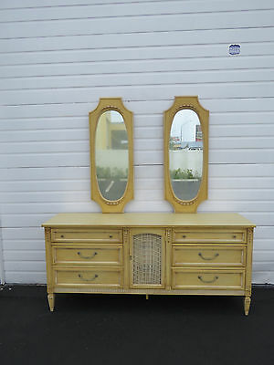 Long French Painted Dresser with Pair of Mirrors 8475
