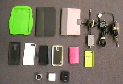 Lot of 15 Phone/Tablet & Video Game System Accessories *USED*