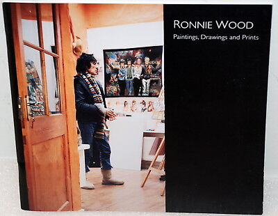 """Ronnie Wood Paintings Drawings and Prints Coffee Table Artwork Book 8.25"""" x 7.5"""""""