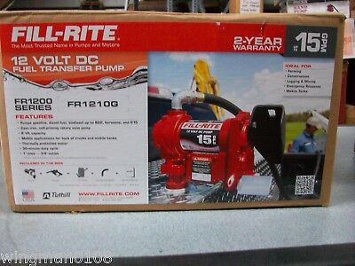 Fill-Rite 12 Volt Dc Fuel Transfer Pump #fr1210G - New