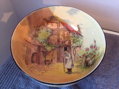 Royal Doulton Series Ware. Very Large Bowl Gaffers. Rare Picture. Signed Noke.
