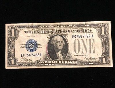 1928 $1 Silver Certificate Funny Back Paper Money Note