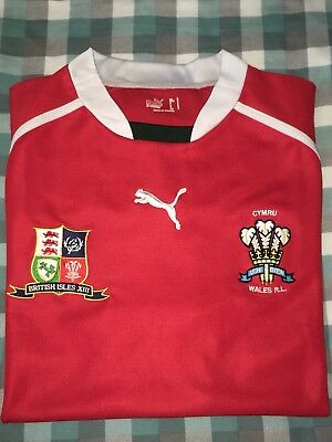 Wales / British Isles XIII Rugby League shirt - Size L - Excellent Condition.