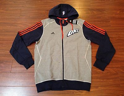 Oklahoma City Thunder Adidas Pre-Game Hoodie Jacket Men's Large New With Tags