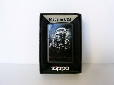 Genuine Zippo Lighter Don't Fear The Reaper NIB  New