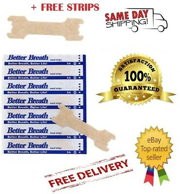 Better Breath Nasal Strips Right Aid to STOP SNORING SM/MED OR LARGE 5 to 1000+