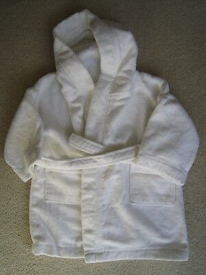 Little White Company White Towelling Hooded Baby Dressing Gown 9-24 M