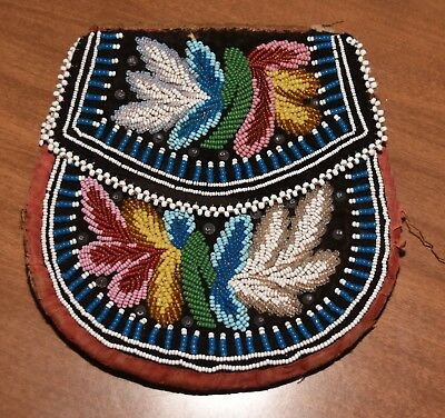 Antique Native American Indian Beaded Purse Pouch Westwood Tribe