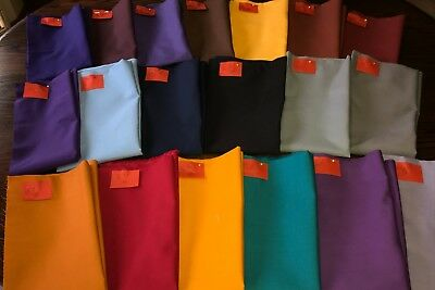 Lot of 19 Pieces Vintage Solid Color Cotton Fabrics 9.5+ Yards FREE SHIPPING