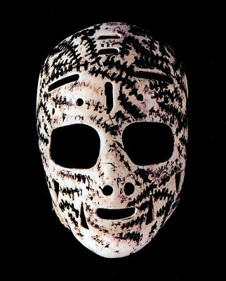 Goalie Mask of Gerry Cheevers Boston Bruins 8x10 Photo