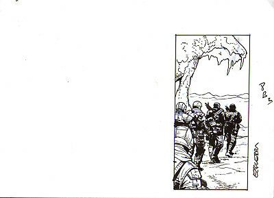 CARLOS EZQUERRA    2000ad  BLOOD MOON  original drawing