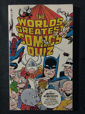 The Worlds Greatest Comics Quiz - 1978 Jerry Robinson Paperback