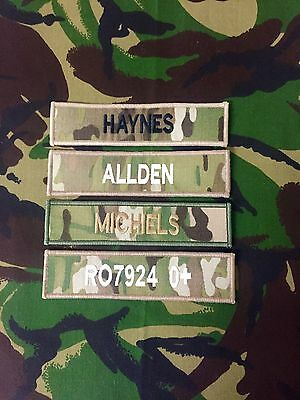 Name Tape ( MULTICAM  MTP name tape (x1) hook backed for MTP issue uniform)