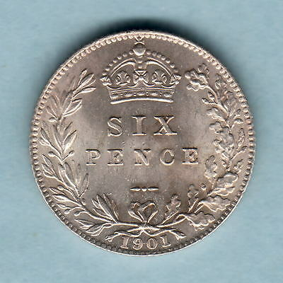 Great Britain. 1901 Sixpence..  BU