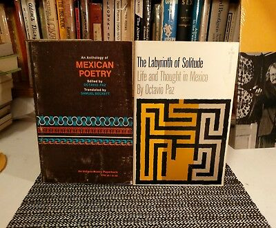 Octavio Paz Lot Anthology of Mexican Poetry, The Labyrinth of Solitude #Beckett