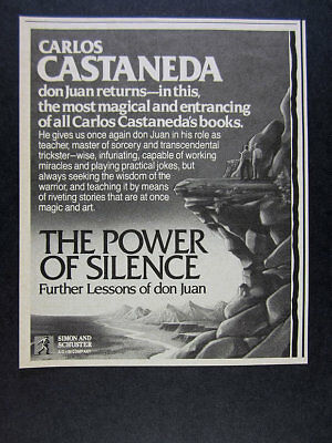 1988 Carlos Castaneda The Power of Silence book promo vintage print Ad
