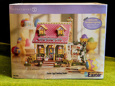 D56 Snow Village Easter Egg Painting Studio New In Boxnever Displayed 2005-2006