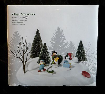 D56 Now Village Building A Snowman 2010-2011 Niob One Year Only Htf