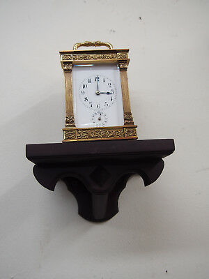 Small Mahogany Wall Shelf for Carriage clock or small clock