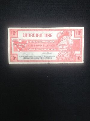 Very Rare Canadian Tire Note with Missing Ink printing Step on One Side