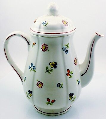 Villeroy & Boch Petite Fleur Coffee Pot With Lid Luxembourg Original Owner