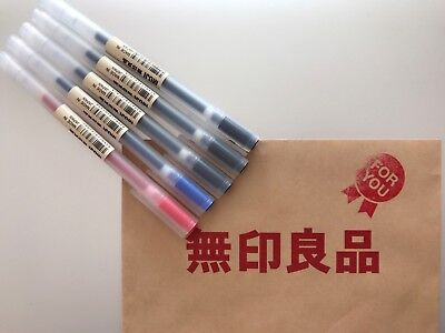 MUJI MoMA Japan 0.38mm Non-Toxic Gel Ink 3 colors assorted FREE SHIPPING