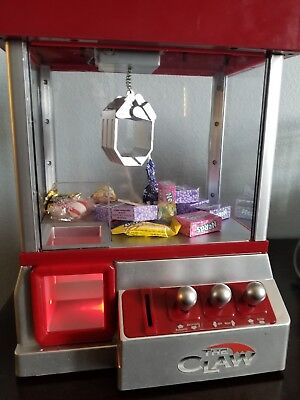 Electronic Claw Machine LED Lights Candy Grabber Arcade Kid Music Crane