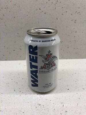 2018 Anheuser Busch Beer Can Drinking Water Collectible Budweiser