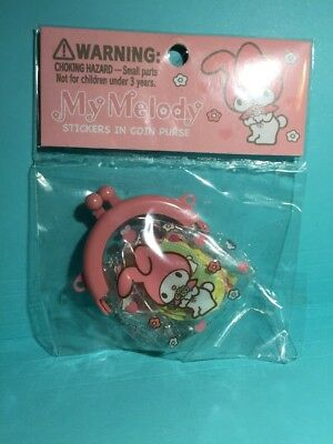 Rare Sanrio Original my melody classic retro sticker Pouch stickers 2008 clear