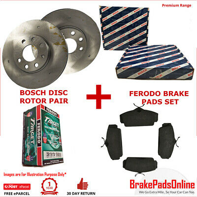 Front Rotors and Brake Pads Set for HOLDEN VECTRA 2.8T 3.0TD/3.2 AFTER VIN 38047