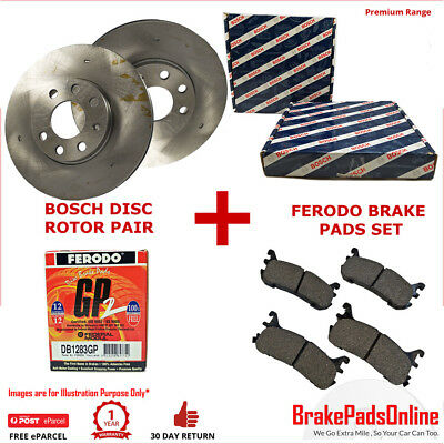 Front Rotors and Brake Pads Set for HOLDEN ASTRA TS WITH ABS (5STUD) 98-2006 ZAF