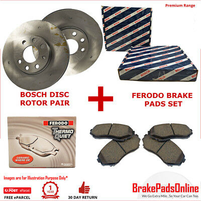 Front Rotors and Brake Pads Set for TOYOTA LANDCRUISER 80 SERIES FZJ80 8/92-98 H