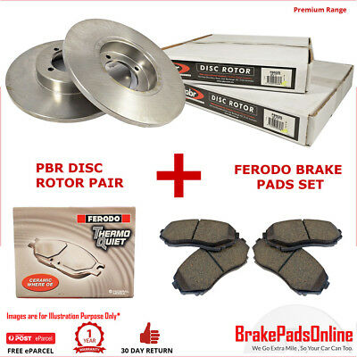 Rear Rotors and Brake Pads Set for HOLDEN COMBO XC 2 8/2004>