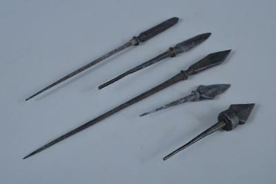 K1241: Japan Metal Yajiri ARROWHEAD, arrow with a wide barbed head replica 5pcs