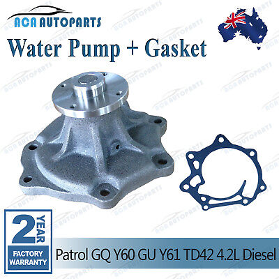 Water Pump for Nissan Patrol GU GQ Y60 Y61 88-06 TD42 TD42T Turbo Diesel 4.2L